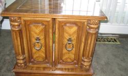 Elliot Lake:  2 Solid sturdy end tables contents not included. in good condition.