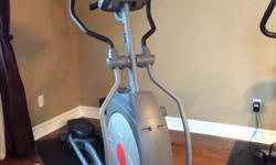 Red zone elliptical in excellent condition. Great features and with heart rate monitor.