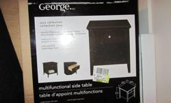 """Product Dimensions: 21""""H x 19.8""""W x 19.8""""D. George Java Collection. Still in box. Currently selling in WalMart for over $80. I bought two but just not enough room in my apartment for both."""