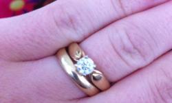Yellow gold, .4 solitaire engagement ring, size 5. Asking $500 or best offer. This ad was posted with the Kijiji Classifieds app.