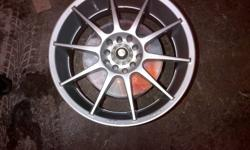 "Enkei 17"" Racing Rims Silver 3 have rubber, one without (had a flat) 5-bolt universal. Will fit most 5 bolt cars Came off a Toyota celica 300$ first come , first serve Darryl 647 706 3869"
