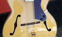 "Duncan Music Epiphone's timeless Emperor Regent still sets the standard for jumbo jazz boxes and is still one of the largest, measuring 17"" across the lower bout for unmatched full-range, big jazz tone. This guitar had a crack in the heel that was"