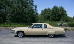 "Make Cadillac Model Coupe De Ville Year 1979 kms 134000 1979 Cadillac Coup De Ville, excellent condition, 134,000 km, cream in colour, all factory options available at the time plus rear fender ""skirts"" and extended windshield ""brow"". Classic Car"