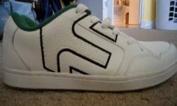 White/Green Etnies Freight shoe never been worn tags removed  with the new foam lite1 insoles by ortholite $65.00 obo