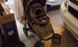 Evenflo Stroller, Car Seat and Base for sale.  Stroller is five years old.  All three pieces in great shape.  $100 or best offer.