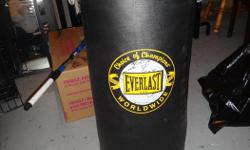 """Everlast brand punching bag Barely used 40lb/18.2kg 14"""" x 30"""" Paid $99 when originally purchased"""