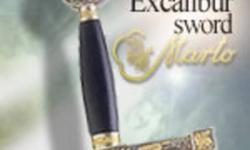 Excalibur Medieval Crusader Sword w/ Plaque   The Lady of the Lake ? her arm clad in the purest shimmering samite, held aloft Excalibur from the bosom of the water, signifying by divine . The name Excalibur came from the ancient French Excalibor, which