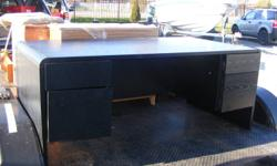 One Executive custom made Black Walnut Desk in good condition  original cost $10,000.00   6' long 2 1/2' wide and 3' depth posting for freind call Cheryl at 519 583 2939