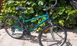 """Exodus by Road Master bicycle for sale. Front suspension. 26"""" wheels. 19"""" frame. 18 speed. Only $60. We are located in Orleans. See our list of other items for sale. First come, first served."""
