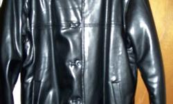 Exterior Winter Black Coat from Sears.  Never Been Worn, Soft, Medium and Large sizes.
