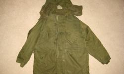 Extreme Cold Weather Combat Parka - Army Surplus Color: khaki Size: 34, 36, 38, 40, 44, 48 Location: Granny's Attic, 25 North Main Street, Deer Lake Fleemarket - Valley Mall - Corner Brook - every Sunday