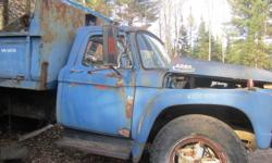 I have an f700 dump truck it has a 331 v8 standard trans with 2spd rear end fair condition for the year has fiberglass fenders and is all complete and original thanks for looking