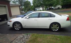 Make Chevrolet Model Impala SS Year 2008 Colour WHITE kms 157000 Trans Automatic Gorgeous, one owner White Chev Impala SS. Fabulous highway cruiser. 5.3 l V8 producing 303HP, yet it gets great highway mileage due to Active Fuel Management