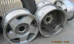 "Have 4, Factory Aluminum GM Rims 16"" Rims 6 bolt 5.5"" centres.  They don't fit our vehicles."
