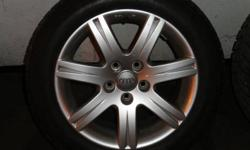 """16"""" Audi Factory Aluminum Wheels with 205/55R16 Michelin X-Ice Snow Tires.  All tires and wheels in very good condition with lots of tread left.  Wheels have been used on a 2008 Audi A4 3.2L.  Asking $900.00 O.B.O.  Call Matt 416-570-7388."""