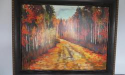 38 inches by 48 inches , wood frame and backing