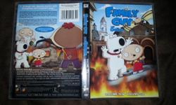 Perfectly good volume 10 DVD set from Family Guy. Lost one in my house, got another, found the lost one, don't need two copies. Bing bang boom. Also contains, through mysteries of science, Les Griffin, volume dix. Email me if you are interested in this