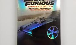 This movie collection includes THE FAST AND THE FURIOUS, 2 FAST 2 FURIOUS, THE FAST AND THE FURIOUS: TOKYO DRIFT, FAST & FURIOUS (2009), FAST FIVE, FAST & FURIOUS 6, FURIOUS 7, and THE FATE OF THE FURIOUS. Brand new and unopened.