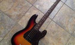 I have a Fender Japan '62 Reissue Precision Bass in Three Tone Burst finish. I put a Nordstrand pickup in it but I have the original pickup that I am including with the guitar. The guitar plays and sound excellent. The build quality IMHO is as good as a