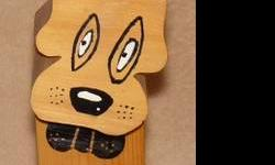 Hand crafted in Canada Fido A dog you don't have to clean up after. Quiet; will not bother neighbors. loyal as a tree and can be left for day on his own. Sell $10.00  also a reindeer $10.00 folds for storage see our other gift ideas and more to come.