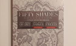 Includes: Fifty Shades Grey, Fifty Shades Darker and Fifty Shades Freed. Brand new and unopened.