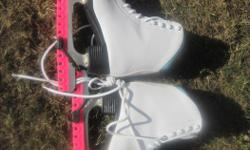 $10 each child figure skates size 3...very comfy and padded inside in excellent conditino Adult recreational skates women's size 9 Bauer Hockey skates size 9