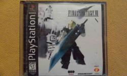 Final Fantasy VII (7) For The Original Playstation. *MAKE AN OFFER* * Separate Pictures of Each Disc Included for Verification of Item* -All Three Game Discs in Working Condition included w/ the Case. The Highest-Rated game in the Final Fantasy Franchise
