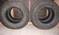 4 - 265/70/17 All tires are 75% tread remaining. Tires where on a F-150