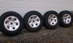 P265/70R17 - paid $850 for the tires & $250 for the 6 lug steel rims. Lots of tread wear left. I had them on a Nissan Titan which I sold because I got tired of supporting oil companies. HST free!