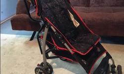 This is a great umbrella stroller in very good used condition. We were really happy with it - lightweight, folds down to allow for naps, lots of storage, large wheels means smooth motion. Paid $65 US new. The First Years Ignite Stroller - Large parent