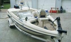 Glastron 1999 18 ft. with 2001 150 HP Evinrude with Ficht system, works great.(max for this boat) the engine has less than 200 hrs on it. Will hit 55mph. Built in charger. Live well. 4ft Walker tournament series downrigger with ball. Anchor, fenders,