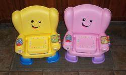 IN MINT CONDITION! I have 1 Fisher-Price - Laugh & Learn - Smart Stages Chair for sale for $15.00 each! pink color (THE YELLOW ONE IS SOLD!!!!!). Features * 50+ sing-along songs, tunes & phrases * Includes Smart Stages? technology - learning content