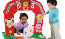 Welcome to the farm, where animal friends are ready to play-and learning fun is all around. The magic starts when baby opens the gate and crawls through, triggering sing-along songs, dancing lights, music, sounds and fun phrases. There are shapes to sort,