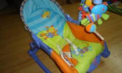The Fisher-Price Newborn-to-Toddler Portable Rocker starts out as an infant seat/rocker with a low-profile frame, making it very appropriate for newborns. As your child grows, you can easily convert it to an infant seat to add interactive toy play, and