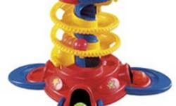 Excellent working condition.  Comes with all 5 balls.    Baby will have a blast learning to sit up and play, then stand and cruise! From a sitting or standing position, baby can drop one of five colorful balls into a chute and watch it roll down a
