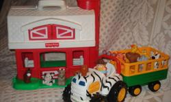 Clean, in great condition from a smoke free/pet free home! Fisher Price Farm with Kiddieland Tractor and animals for 20 dollars together! Please, serious buyers only! Thank you! Feel free to view my other ads!