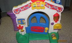 Welcome home! This is a Fisher-Price house that?s full of fun ? and full of great ways for baby to laugh and learn. From A-B-C?s and 1-2-3?s to fascinating everyday experiences, the Laugh & Learn Learning Home will inspire baby with sing-along songs and