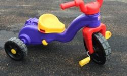 I have a Fisher Price Rock n Roll Tricycle for sale! This is in great condition and would be great for playtime or to give as a gift. This sells for just under $65 new in stores. Let kids rock, roll and ride from as young as 1½ all the way to 5 years