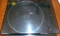 Hi, this is a great looking, sounding, and functioning, Studio Standard, Fisher MT-32 Turntable. It is semi automatic, with automatic tonearm return and shutoff. Other than it has no cover hinges, this unit has no issues. Just $25, or will consider trades