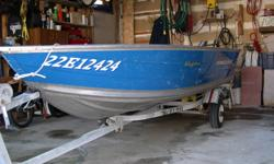 For Sale 12 foot Aluminum Boat (Princess Craft) with life Jackets Oars and Trailer.   $600.00 OBO   Rated for Maximum 15 HP   905-775-9432 home 416-991-1355 cell
