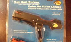 finshing rod holders 2 pack new never used for bait casters $25 text or call for faster reply (905-347-4555)
