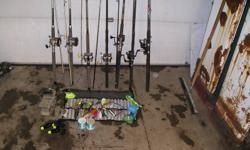 FORSALE DOWNRIGGER RODS AND REELS ,SPOONS LINE,BASE PLATES FOR DOWNRIGGERS AND MORE EMAIL ME WITH WHAT YOU ARE LOOKING FOR SOLD BOAT AND EVERYTHING HAS TO GO THANKS