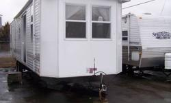 Nice roomy park model with a nice front master bedroom with queen walk around bed, 2nd rear bedroom with bunks that can be removed for new owners desired option(office, king/queen bed etc.) Fully loaded. Please call Steve @ Chemong RV for more details.