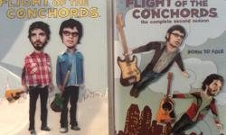 "Hilarious New Zealand comedy duo of ""Flight of the Conchords"" on DVD. Season 1 and 2 DVD box sets are available for $10.00 dollars each. In excellent condition and great for the ultimate comedy fan."