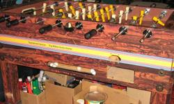 Foosball Table in good condition, very strong, came from a bar. Comes with extra men.