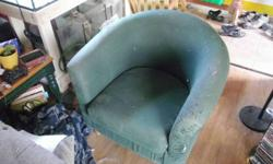 it's pretty well garage furniture, 15$ takes the foot rest. The Chair is free to anyone who want to get rid of it