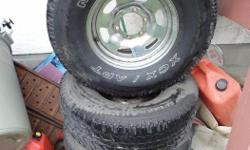 I have a spare set of tires for my Land Cruiser that I'm looking to trade for 33X10.5X15 or 33X12.5X15 mud or all terrains. My tires are Michelin XCX/APT 31x10.5x15 and are mounted on 6 bolt land cruiser wheels (can be included in trade). They are an