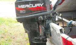 2004 - 20 HP, 2 stroke Mercury outboard motor with electric start, long shaft and very well maintained