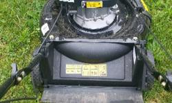 """For Sale Gas Lawnmower 140cc Power more Engine 21"""" cutting deck. Mulch bag & side discharge. Bought this lawnmower @ $299. Used it 4x need to sell due to 2 knee replacement. Asking $210. OR BEST OFFER. Can be reach via email"""