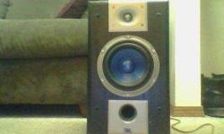 THE JBLS ARE A PAIR OF S26 SPEAKERS THATS THE MODEL NUMBER THE SPECS ON THEM ARE 150 WATTS EACH 89 DB 8OHMS COME WITH A PAIR OF BLACK HEAVY DUTY SPEAKER STANDS SPEAKER COVERS MISSING BUT THEY ARE HOOKED UP AND CAN BE HEARD FIRST